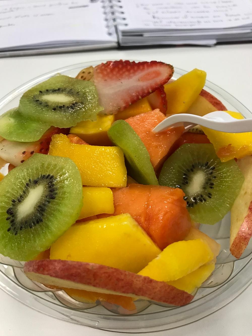 Frutas en la oficina