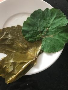 Arenques hojas de parra - placeres del alma