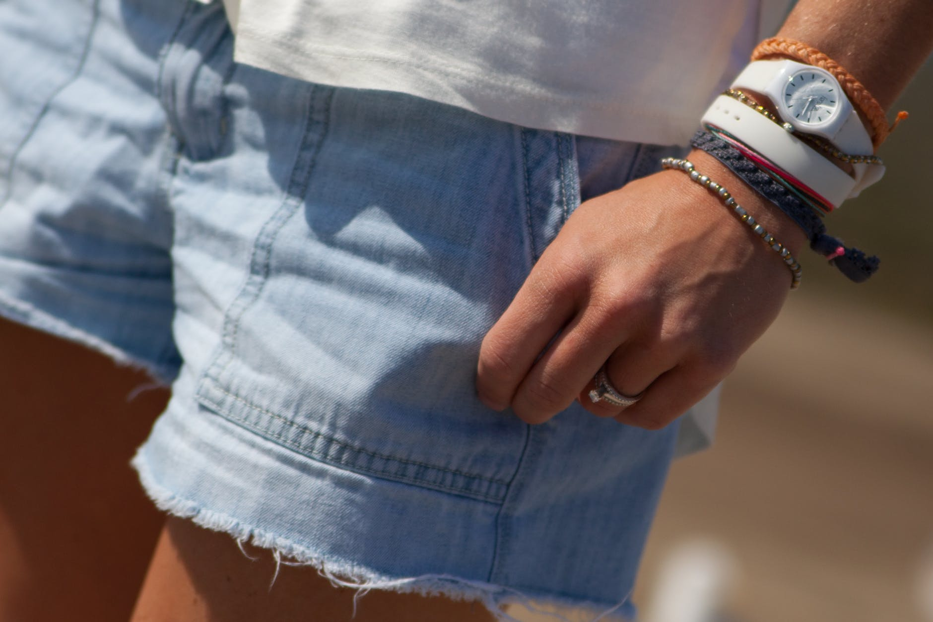 fashion person shorts woman